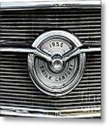 1956 Buick Century Grill Emblem Metal Print
