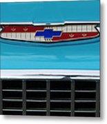 1956 Chevrolet Belair Nomad Grille Emblem Metal Print
