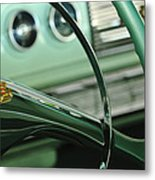 1956 Dodge Coronet Steering Wheel Metal Print