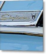 1956 Ford Fairlane Skyliner Emblem Metal Print