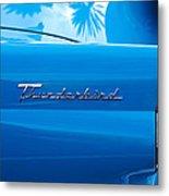 1956 Ford Thunderbird Taillight Emblem Metal Print