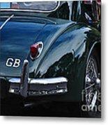 1956 Jaguar Xk 140 - Rear And Emblem Metal Print