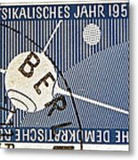 1957 - 1958 East German Sputnik Stamp Metal Print
