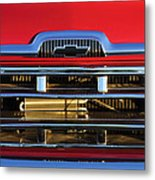 1957 Chevrolet Pickup Truck Grille Emblem Metal Print
