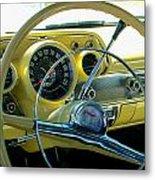 1957 Chevy Bel Air Dash Metal Print