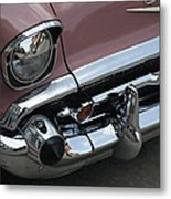 1957 Coral Chevy Bel Air Metal Print