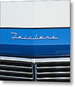 1957 Ford Fairlane Grille Emblem Metal Print