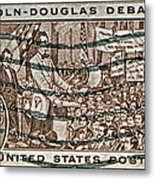 1958 Lincoln-douglas Debates Stamp Metal Print