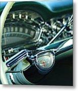 1958 Oldsmobile 98 Steering Wheel Metal Print