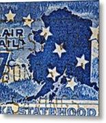 1959 Alaska Statehood Stamp Metal Print