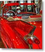 1959 Cadillac At The Pumps Metal Print