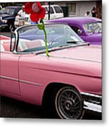 1959 Cadillac Convertible And The 1950 Mercury Metal Print