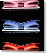 1959 Chevrolet Eyebrow Tail Lights Metal Print