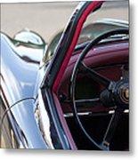 1959 Jaguar S Roadster Steering Wheel 2 Metal Print