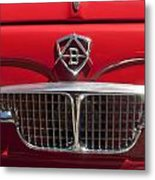 1960 Autobianchi Bianchina Transformabile Coupe Hood Emblem Metal Print