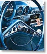 1960 Chevrolet Impala Steering Wheel Metal Print