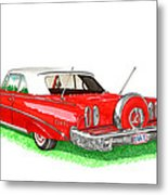1960 Edsel Ranger Continental Kit Metal Print