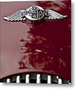 1960 Morgan Plus Four Drophead Coupe Hood Emblem Metal Print