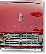 1960 Triumph Tr 3 Grille Emblems Metal Print