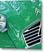 1961 Citroen 2cv Landaulet Hood Emblem Metal Print