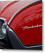 1961 Ford Thunderbird Headlight Emblem Metal Print