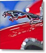 1961 Jaguar Kougar Hood Ornament 2 Metal Print