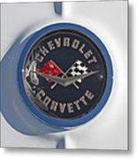 1962 Chevrolet Corvette Emblem 4 Metal Print