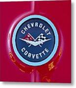 1962 Chevrolet Corvette Emblem Metal Print