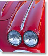1962 Chevrolet Corvette Headlight Metal Print