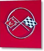 1962 Chevrolet Corvette Hood Emblem 2 Metal Print
