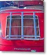 1963 Red Porsche 356b Super 90 Back End Metal Print