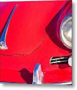 1963 Red Porsche Metal Print