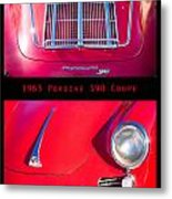 1963 Red Porsche S90 Coupe Poster S Metal Print
