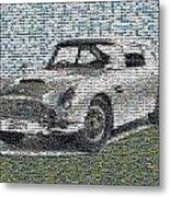 1964 Aston Martin Mosaic Metal Print