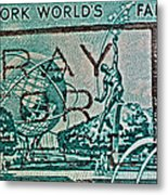 1964 New York World's Fair Stamp Metal Print