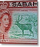 1964 North Borneo Sabah Stamp Metal Print
