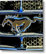 1965 Ford Shelby Mustang Grille Emblem Metal Print