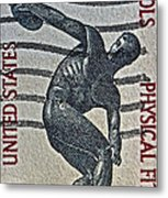 1965 Physical Fitness Stamp Metal Print