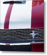1966 Red Ford Mustang Shelby Gt350 Front Metal Print