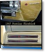 1967 Bronze Pontiac Firebird  Poster S Metal Print