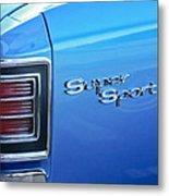 1967 Chevrolet Chevelle Super Sport Taillight Emblem Metal Print