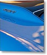 1967 Chevrolet Corvette 427 Hood Emblem Metal Print