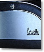 1967 Chevrolet Corvette Glove Box Emblem Metal Print by Jill Reger