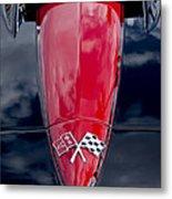 1967 Chevrolet Corvette Hood Emblem 5 Metal Print