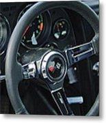 1967 Chevrolet Corvette Steering Wheel Metal Print