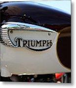 1967 Triumph Bonneville Gas Tank 1 Metal Print