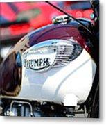 1967 Triumph Gas Tank 3 Metal Print