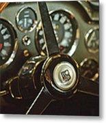 1968 Aston Martin Db6 Steering Wheel Emblem Metal Print