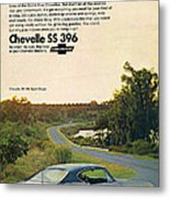1968 Chevrolet Chevelle Ss 396 - It'd Be A Big Mover On Looks Alone. Metal Print