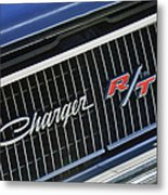 1968 Dodge Charger Rt Coupe 426 Hemi Upgrade Grille Emblem Metal Print